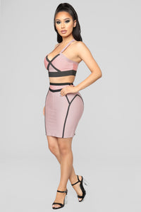 Love On Top Bandage Set - Rose/Taupe Angle 12