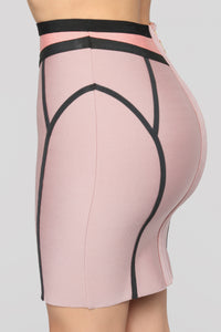 Love On Top Bandage Set - Rose/Taupe Angle 17