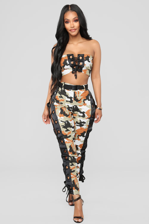 Northwest Camo Set - Black/Orange