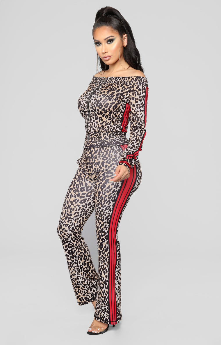 Animal Attraction Loungewear Set - Brown
