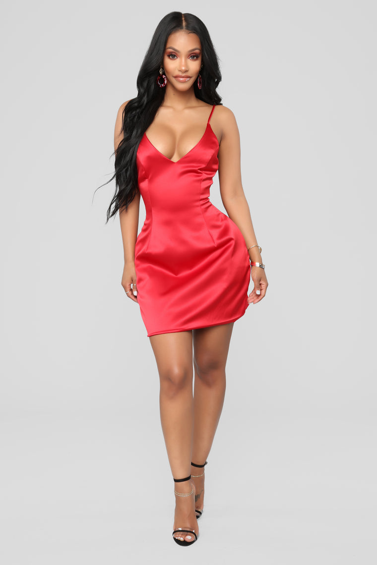 616f1ce9eea5 Selena Satin Dress - Red