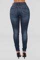 Rapid Fire Skinny Jeans - Dark Denim