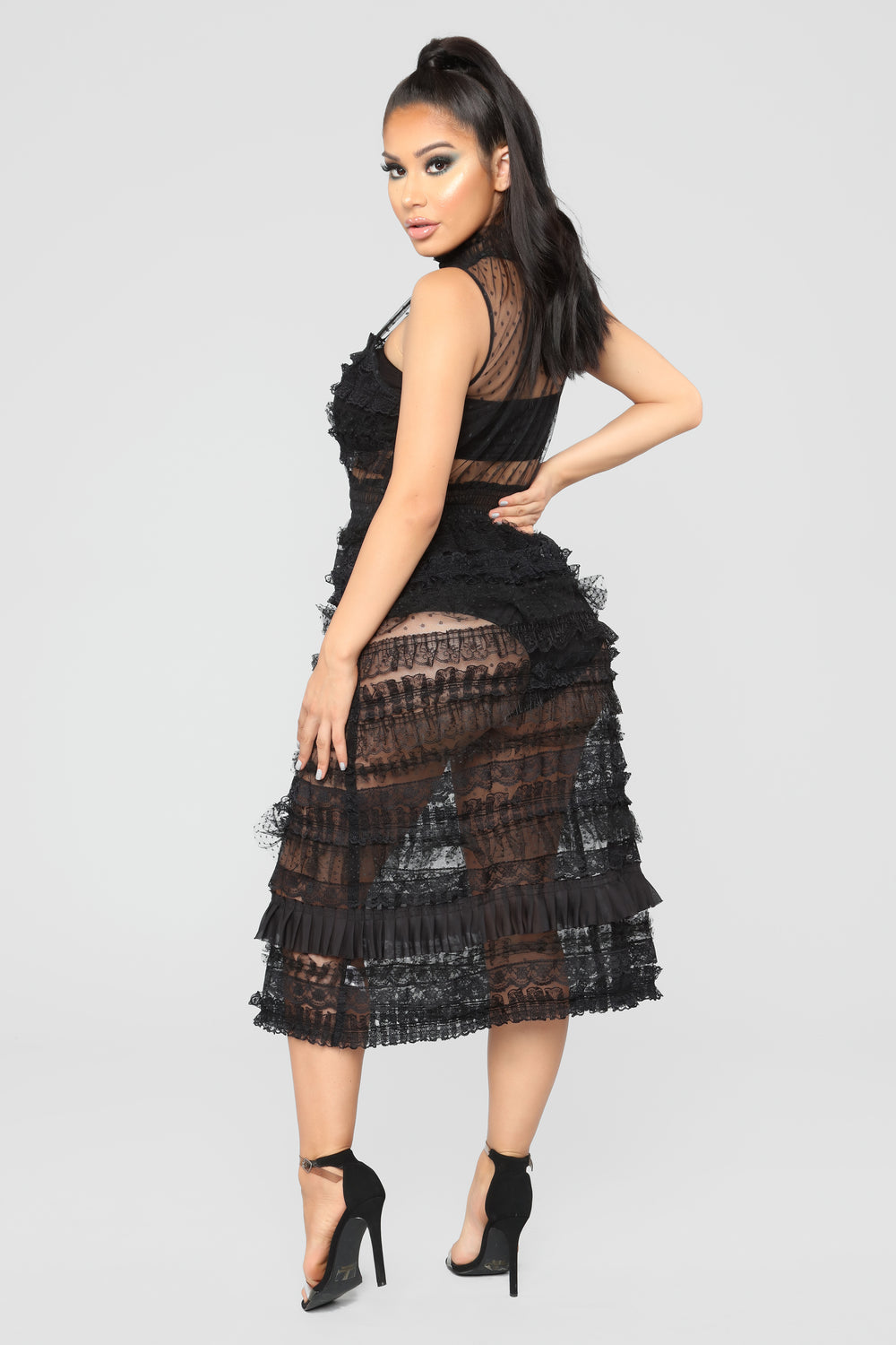 Do You Dirty Ruffle Dress - Black
