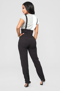 Julene High Rise Trouser - Black