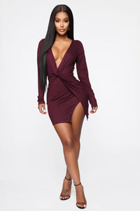 Sugar Frenzy Dress - Eggplant Angle 1