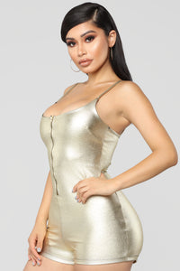 Stay Golden Romper - Gold