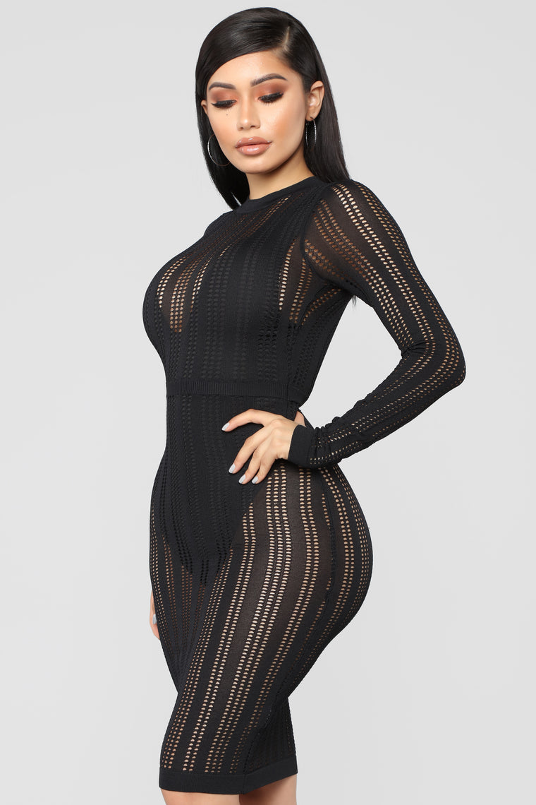 Oceans Deep Bodysuit - Black