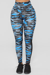 Kelsie Active Leggings - Blue