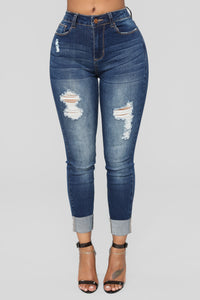 All Exposed Highrise  Skinny Jeans - Dark Wash