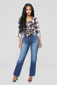 Alexa Straight Leg Jeans - Dark Denim