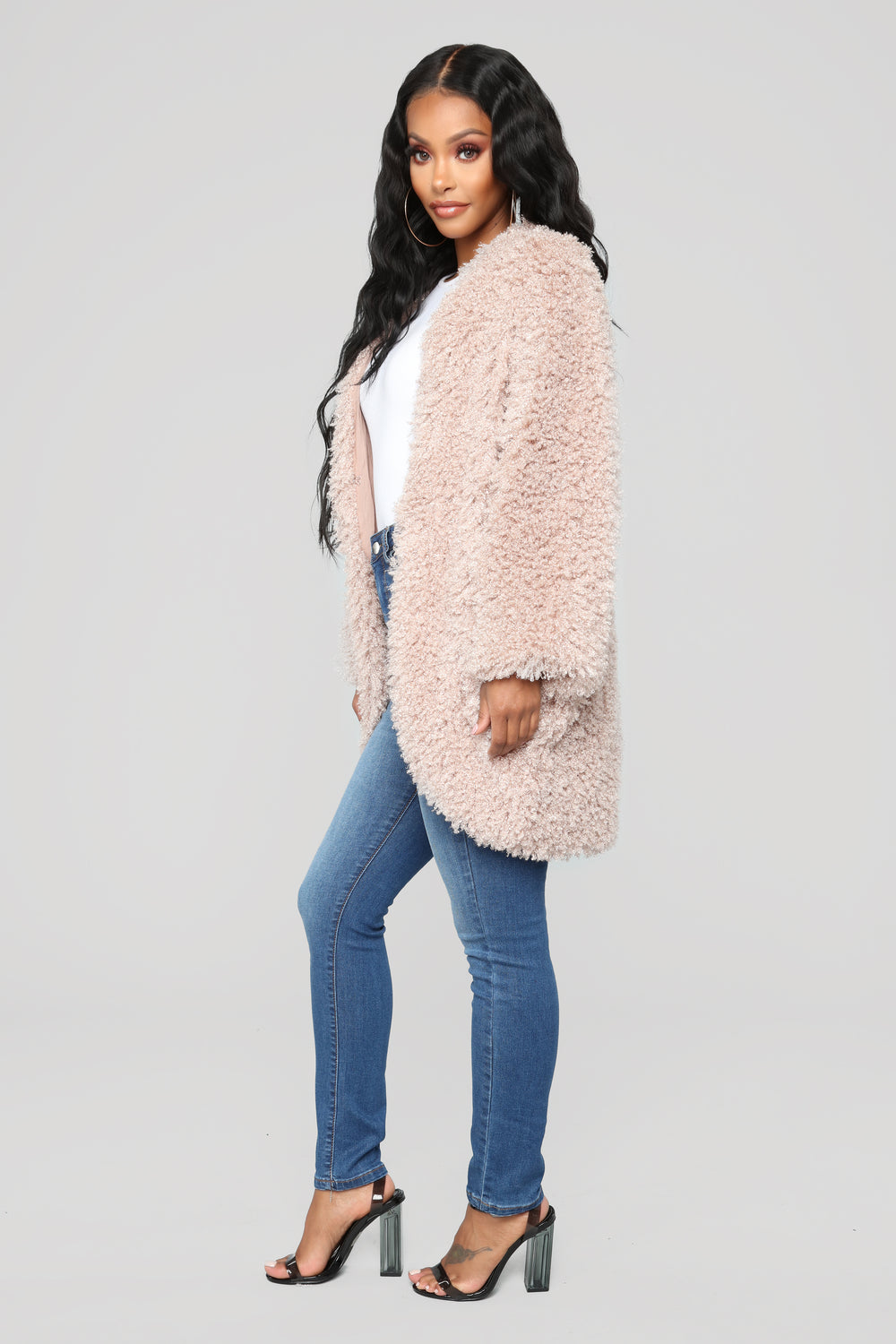 Warm Embrace Faux Fur Jacket - Taupe