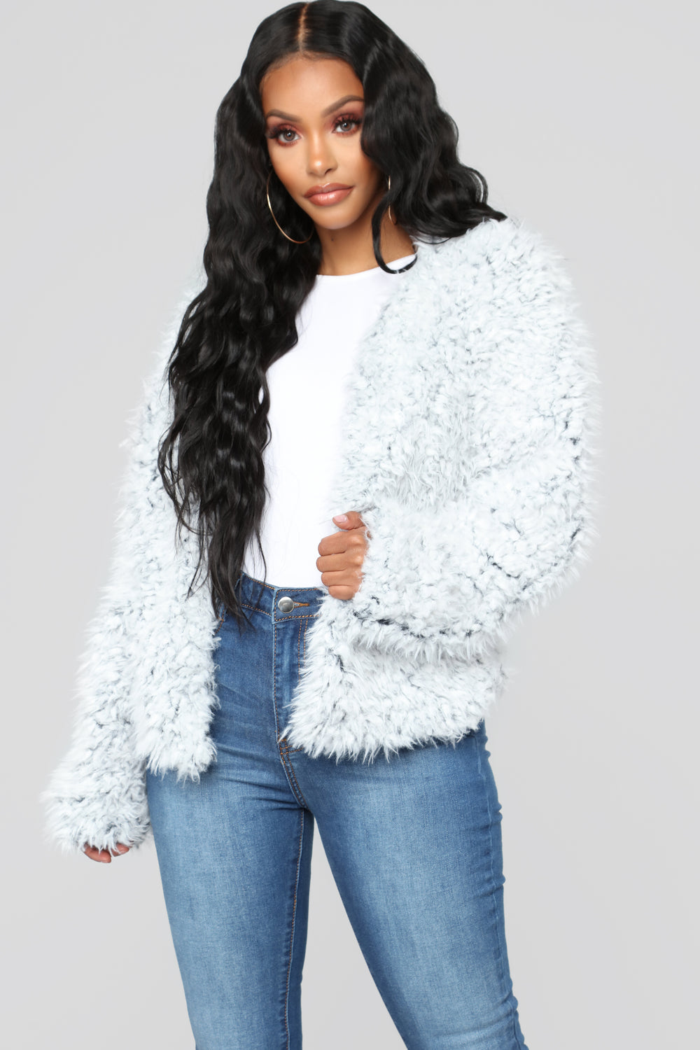 Keep Me Cozy Fur Jacket - Grey
