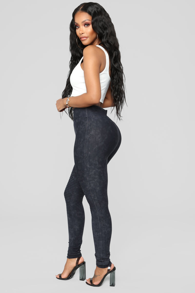 Gabbie Moto Leggings - Black