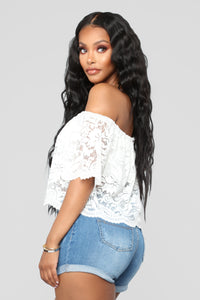 Here For Lace Off Shoulder Top - OffWhite