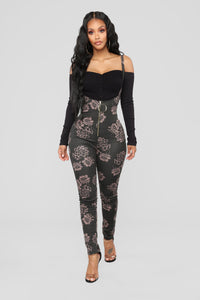 When We Are Together Overall Jumpsuit - Black/Mocha