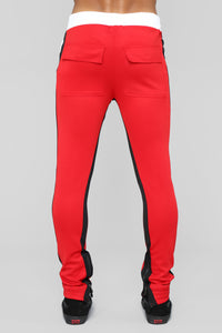 Union V2 Track Pants - Red