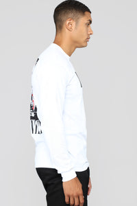 Numbers Long Sleeve Tee - White