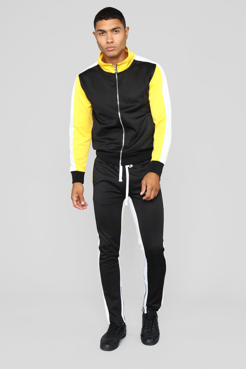 Bobby Track Pant - Yellow/Combo