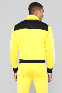 Bobby Track Jacket - Yellow/Combo