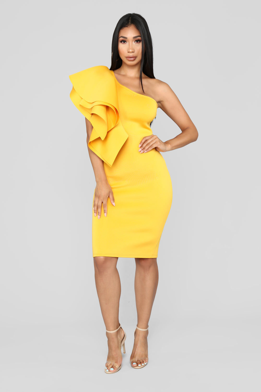 Out All Night Dress - Yellow