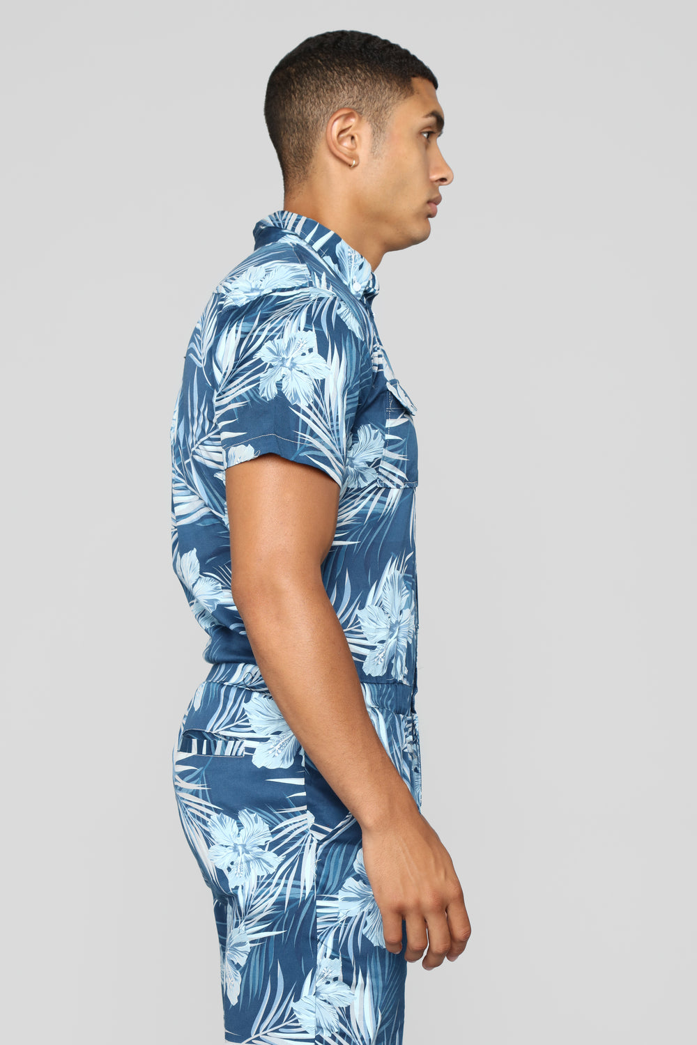Palms Party Suit - Blue