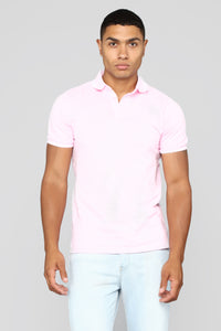 Wilson Short Sleeve Polo - Pink