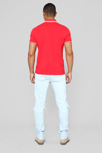 Wilson Short Sleeve Polo - Red Angle 6
