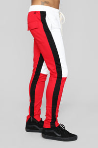 Mathis Twill Jogger - Red