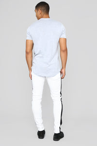 Michaell Twill Pants - White