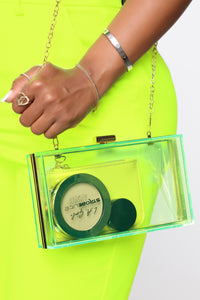 Such A Brat Box Clutch - Neon Green
