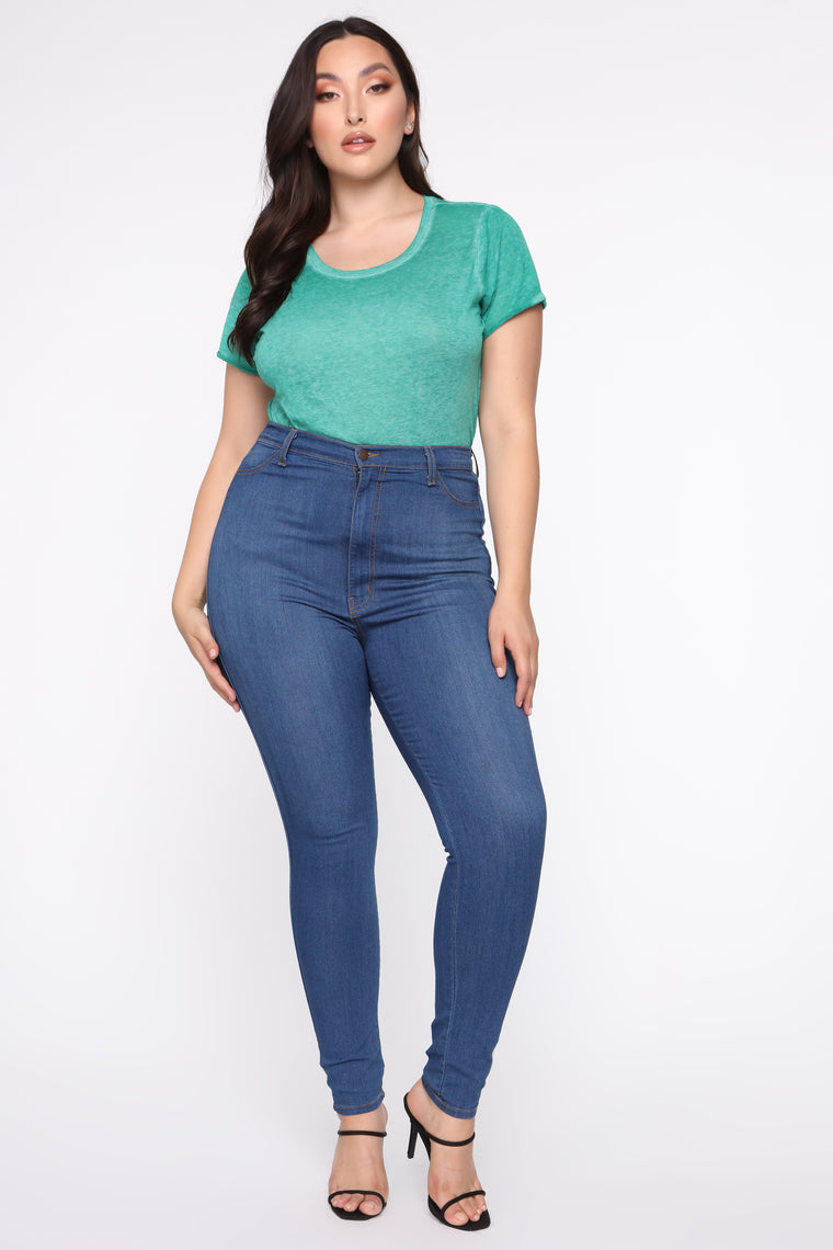 Kelly Short Sleeve Top - Green