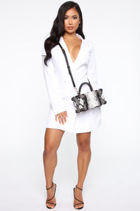 Slither To Me Crossbody - Black/White