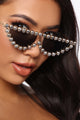 Lights Out Iced Out Sunglasses - Black
