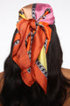 Blocked Forever Head Scarf - Orange/combo