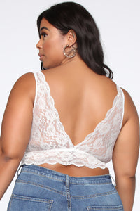 Queens Only Lace Bralette - Ivory