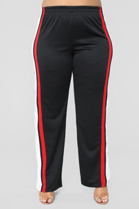Nayeli Flare Pants - Black/Red