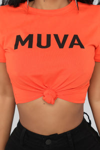 Muva Hood Top - Orange