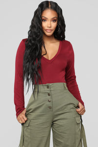 Voted Most Popular Bodysuit - Burgundy Angle 10