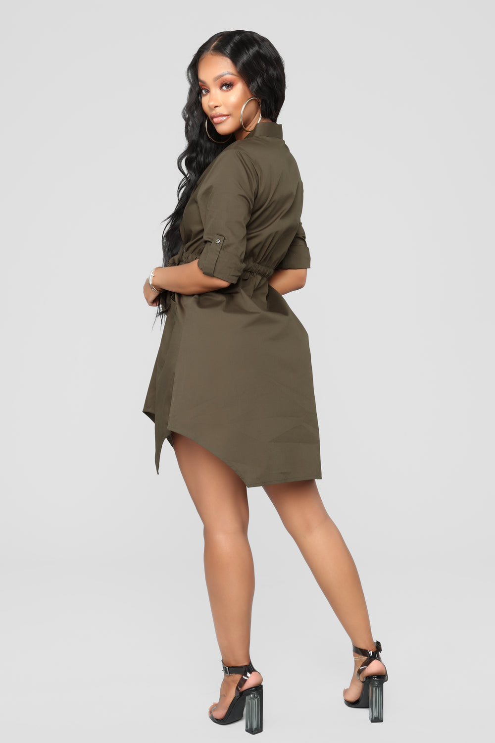 Work It Girl Dress - Olive