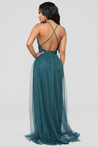 On The Runway Maxi Dress - Teal