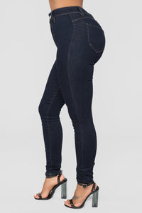 Get You Alone Skinny Jeans - Dark Denim