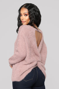 Knot Your Girl Sweater - Dusty Lilac