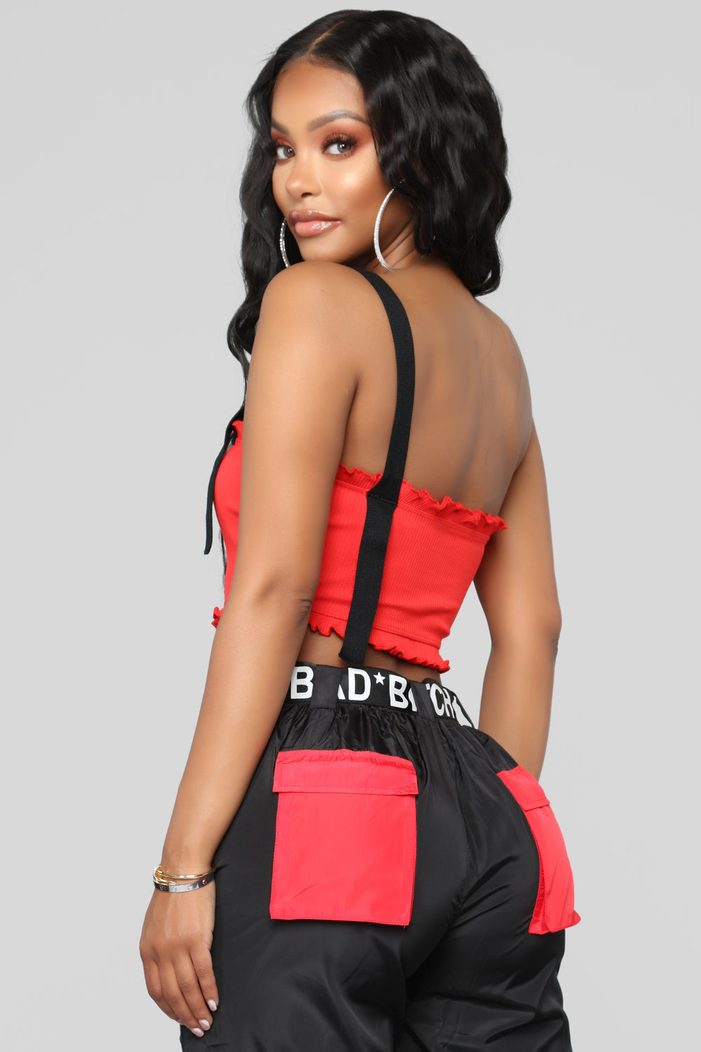 While We're Young One Shoulder Top - Red