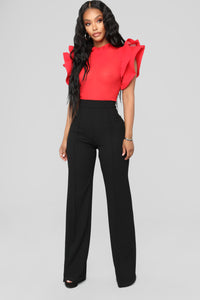 Evening Glow Blouse - Red