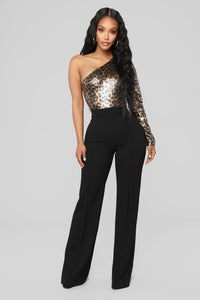 Fire And Fury Bodysuit - Gold