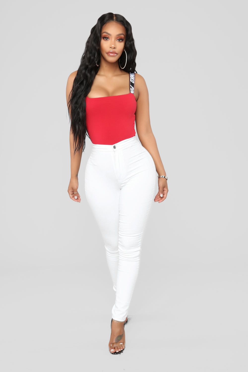 Stay Ready Bodysuit - Red