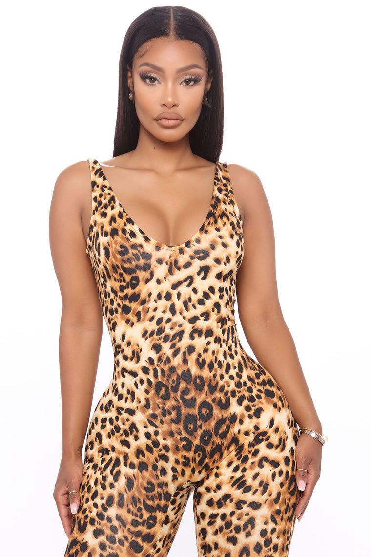 On The Wild Leopard Jumpsuit - Leopard