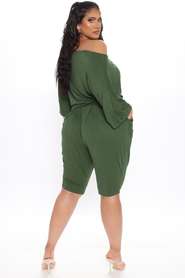 Perfect for You Short Set - Olive