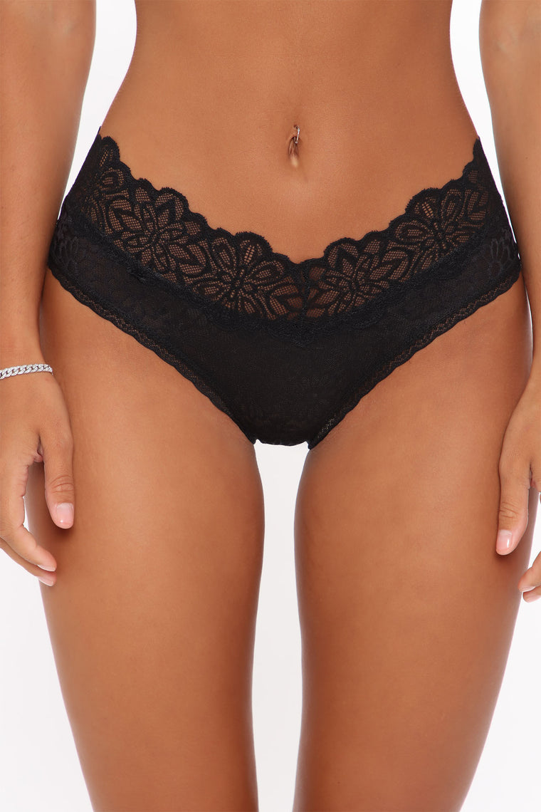 Weekend Dreaming Lace Hipster Panty - Black