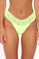 Perfect Lace Waist Thong 3 Pack Panties - Yellow/combo